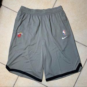 Nike NBA Miami Heat Basketball Shorts Grey